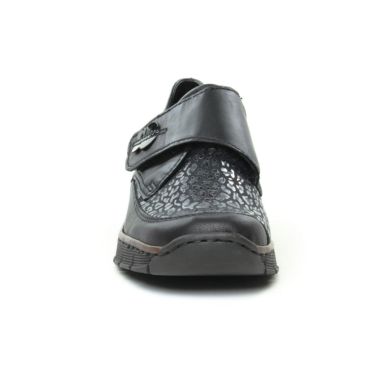 Rieker 537C0 00 Schwarz | mocassin trotteurs noir automne