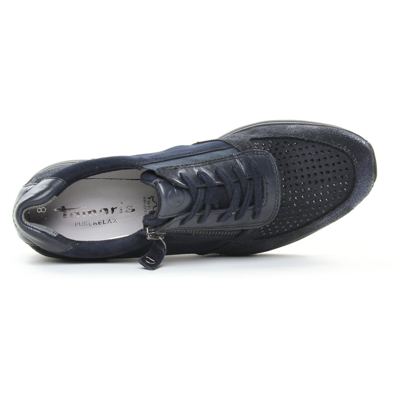 Tamaris 23740 Navy Comb   tennis bleu noir automne hiver