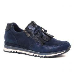 Chaussures femme hiver 2019 - baskets mode marco tozzi bleu pailleté