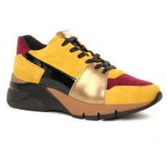Chaussures femme hiver 2019 - baskets mode tamaris jaune