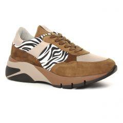 baskets-mode marron multi: même style de chaussures en ligne pour femmes que les Tamaris