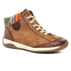 Rieker L5231-22 Brown : chaussures dans la même tendance femme (baskets-mode marron) et disponibles à la vente en ligne