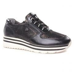 baskets-mode noir argent: même style de chaussures en ligne pour femmes que les Marco Tozzi