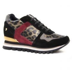 Chaussures femme hiver 2019 - baskets mode Gioseppo noir léopard