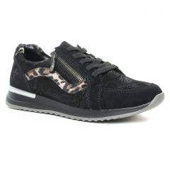 baskets-mode noir leopard: même style de chaussures en ligne pour femmes que les Tamaris