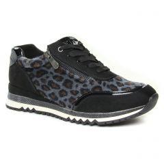 baskets-mode noir léopard: même style de chaussures en ligne pour femmes que les Remonte