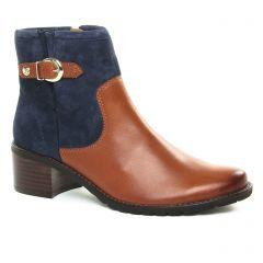 boots bleu marron: même style de chaussures en ligne pour femmes que les Caprice