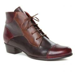 bottines-a-lacets bordeaux multi: même style de chaussures en ligne pour femmes que les Marco Tozzi