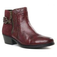 Chaussures femme hiver 2019 - boots rieker bordeaux