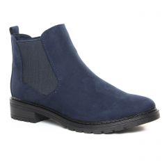 Chaussures femme hiver 2019 - boots élastiquées marco tozzi bleu marine