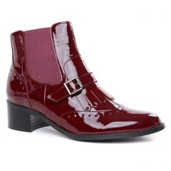 Chaussures femme hiver 2019 - boots élastiquées Émilie Karston bordeaux