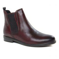 boots-chelsea bordeaux: même style de chaussures en ligne pour femmes que les Tamaris