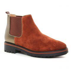Chaussures femme hiver 2019 - boots élastiquées Émilie Karston brique