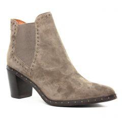 Chaussures femme hiver 2019 - boots élastiquées Mamzelle gris beige