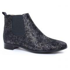 boots-chelsea gris noir: même style de chaussures en ligne pour femmes que les Émilie Karston