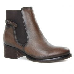 boots-chelsea marron gris: même style de chaussures en ligne pour femmes que les Rieker