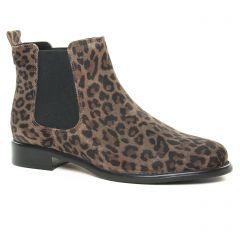 boots-chelsea marron leopard: même style de chaussures en ligne pour femmes que les Scarlatine