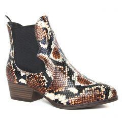 boots-chelsea marron multi: même style de chaussures en ligne pour femmes que les Rieker