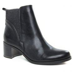 Chaussures femme hiver 2019 - boots élastiquées marco tozzi noir