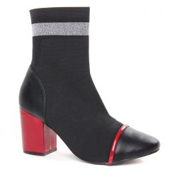 boots-chelsea noir rouge: même style de chaussures en ligne pour femmes que les Gioseppo