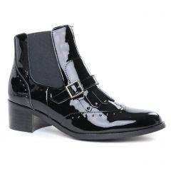 Chaussures femme hiver 2019 - boots élastiquées Émilie Karston noir vernis