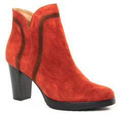 Chaussures femme hiver 2019 - boots Émilie Karston marron orangé