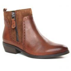 boots marron cognac: même style de chaussures en ligne pour femmes que les Marco Tozzi