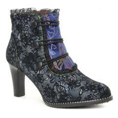 Chaussures femme hiver 2019 - bottines à lacets Laura Vita noir multi