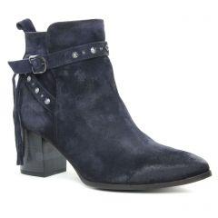 boots-talon bleu marine: même style de chaussures en ligne pour femmes que les Regarde Le Ciel