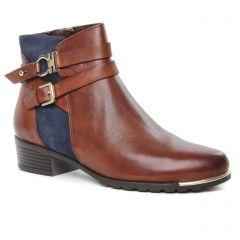 boots-talon bleu marron: même style de chaussures en ligne pour femmes que les Caprice