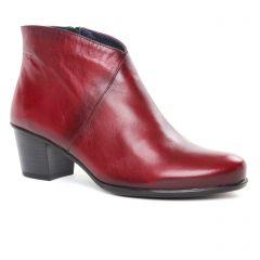 boots-talon bordeaux: même style de chaussures en ligne pour femmes que les Scarlatine