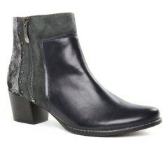 boots-talon noir kaki: même style de chaussures en ligne pour femmes que les Regarde Le Ciel