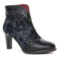 Chaussures femme hiver 2019 - boots talon Laura Vita noir