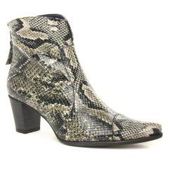 Chaussures femme hiver 2019 - boots talon Dorking python beige