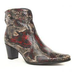 boots-talon python gris noir: même style de chaussures en ligne pour femmes que les Dorking