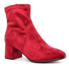 boots-talon rouge rose: même style de chaussures en ligne pour femmes que les Tamaris