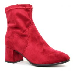 Chaussures femme hiver 2019 - boots talon tamaris rouge rose