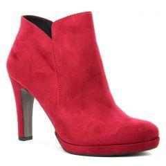 Chaussures femme hiver 2019 - boots talon tamaris rouge