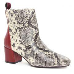boots-talon serpent beige: même style de chaussures en ligne pour femmes que les Tamaris