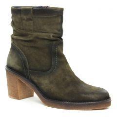 Dorking D7998 Herb : chaussures dans la même tendance femme (boots-talon vert kaki) et disponibles à la vente en ligne
