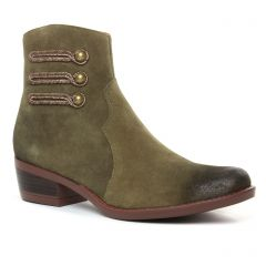 boots vert kaki: même style de chaussures en ligne pour femmes que les Tamaris