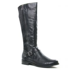 Chaussures femme hiver 2019 - bottes cavalières Émilie Karston noir