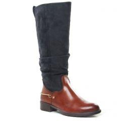 bottes-cavalieres marron bleu: même style de chaussures en ligne pour femmes que les Tamaris