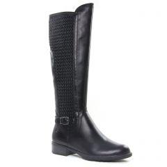 bottes-stretch noir: même style de chaussures en ligne pour femmes que les Marco Tozzi