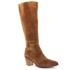Chaussures femme hiver 2019 - bottes talon Émilie Karston marron