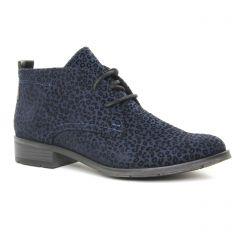 Chaussures femme hiver 2019 - bottines à lacets marco tozzi bleu léopard
