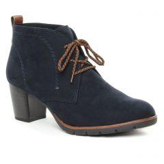 Chaussures femme hiver 2019 - bottines à lacets marco tozzi bleu marine