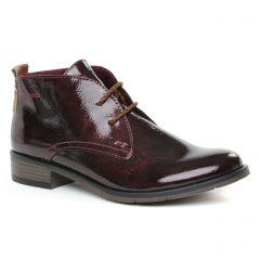 bottines-a-lacets bordeaux: même style de chaussures en ligne pour femmes que les Marco Tozzi