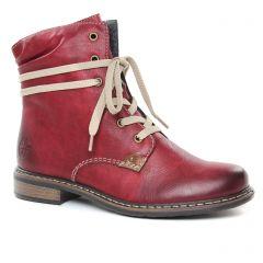 bottines-a-lacets bordeaux: même style de chaussures en ligne pour femmes que les Tamaris