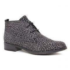 Chaussures femme hiver 2019 - bottines à lacets marco tozzi gris léopard